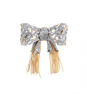 Alexis Bittar Crystal Encrusted Mosaic Lace Bow Pin