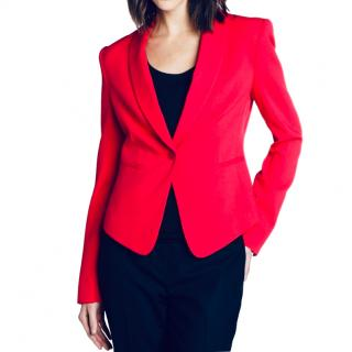 BCBG Max Azria single-breasted red blazer