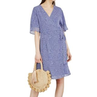 Gesruz clover-print wrap dress