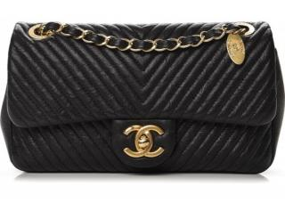 Chanel Small Black Chevron Surpique Bag
