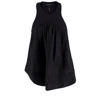 Isabel Marant Black Flared Sleeveless Top