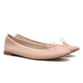 Repetto Pink Leather 'Bambino' Ballerina Flats