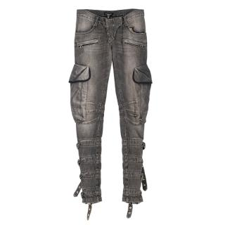 Balmain Grey Buckle Detailed Jeans