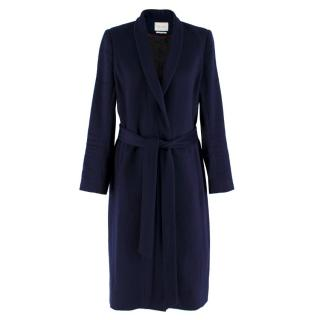 The Fold Navy Wool & Cashmere Blend Coat