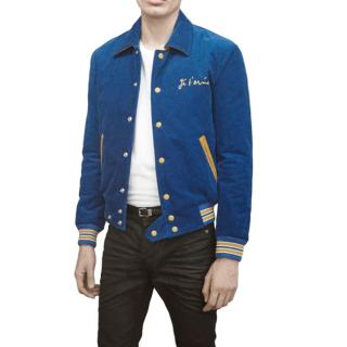 Saint Laurent Je T'aime Royal Blue & Yellow Teddy Jacket