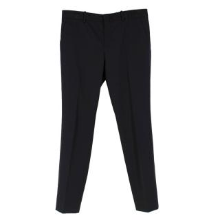 Gucci Black Wool Suit Trousers