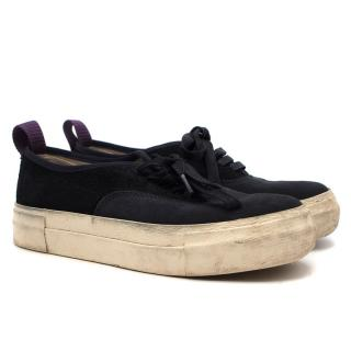 Eytys Navy Suede Mother Trainers