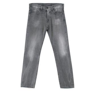 True Religion Grey Cotton Straight Jean Trousers