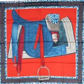Hermes Selle d'officier en grande tenue silk scarf 90