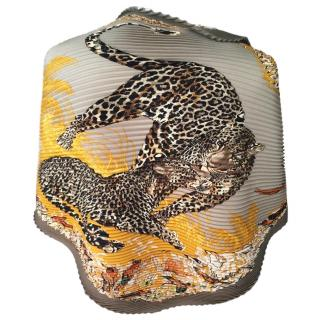 Hermes Jungle love plisse scarf 90