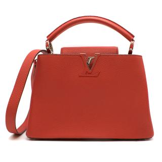 Louis Vuitton Red Capucines BB Shoulder Bag