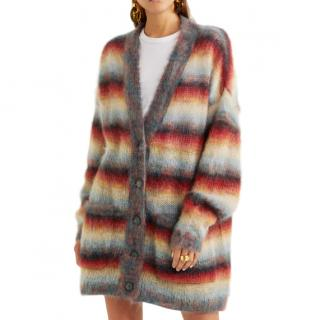 Chlo� Oversized striped mohair-blend cardigan