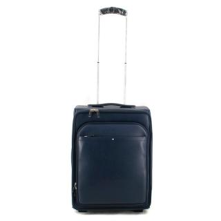 Montblanc Navy Leather Sartorial Trolley
