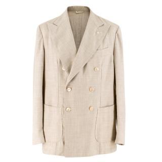 G.Inglese Brown Seam-stitched detail Blazer Jacket