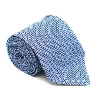 Boggi Milano Blue Printed Silk Tie