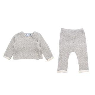 Tartine et Chocolat Kids 9M Grey Top & Trousers Set