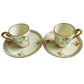 Tiffany & Co demitasse bone china coffee cups
