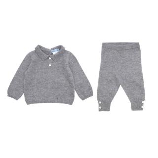 Jacadi Baby 6M Grey Cashmere Top and Trousers Set
