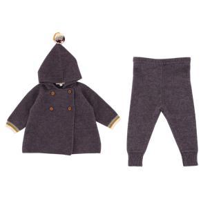 Caramel Girls 6Y Purple Knit Top & Trousers Set