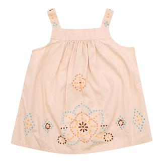Bonpoint Girls 2Y Beige Embroidered Top