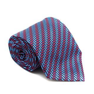 Turnbull & Asser Silk Multi-coloured Geometic Print Tie