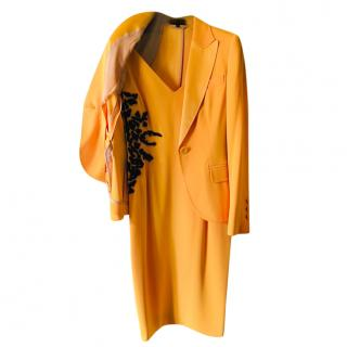 Escada Couture Orange Embellished Dress & Jacket