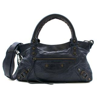 Balenciaga Paris Dark Navy Small City Bag