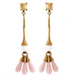 Valentino  Pink Resin Droplet Earrings