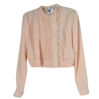 Carven Pleated peach blouse