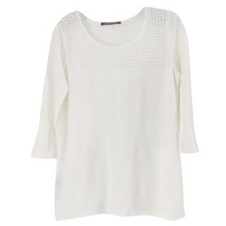 Comptoir Des Cotonniers White linen top