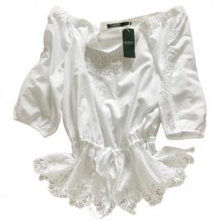 Lauren Ralph Lauren White bardot tunic