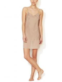 Gold Hawk Silk Chemise Dress