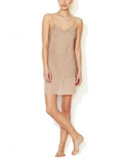 Gold Hawk Silk Chemise Dress