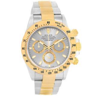 Rolex Slate Daytona 18k Yellow gold & Stainless Steel 40mm Watch