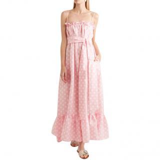 Lisa Marie Fernandez Baby Pink Polka Dot Liz Dress