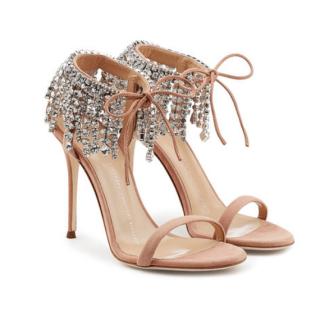 Giuseppe Zanotti Mistico Swarovski Crystal Sandals in Candy