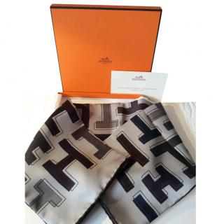 Hermes Tonal H Print Silk Scarf 65