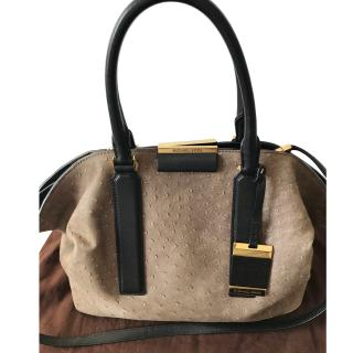 Michael Kors Taupe Textured Suede Tote Bag