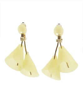 Lele Sadoughi Yellow Calla Lily Clip-On Earrings