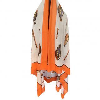 Hermes XL Fish Print Pareo Wrap
