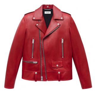 Saint Laurent Red Leather Jacket
