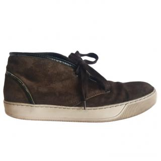 Lanvin Brown Suede Sneakers