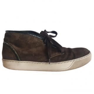 Lanvin Brown Suede Sneakers