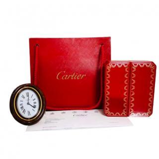 Cartier eight-day travel alarm clock