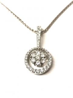 Picchiotti Diamond Cluster Pendant Necklace