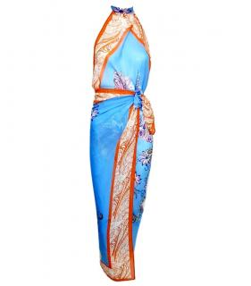 Etro silk beachwear wrap dress