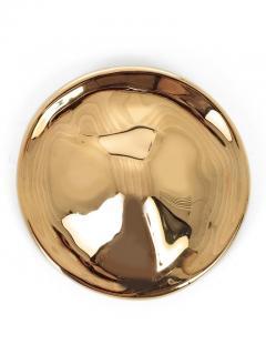 Celine Runway Hammered Gold Tone Brooch