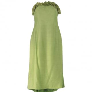 Simorra Collection strapless green dress and wrap