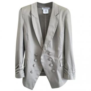 Givenchy Metallic Double Breasted Blazer