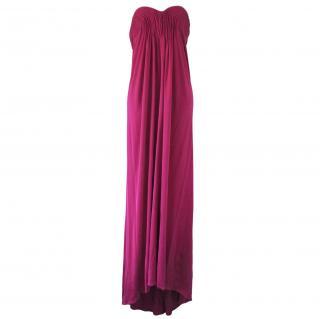 Issa Magenta Pink Silk column gown